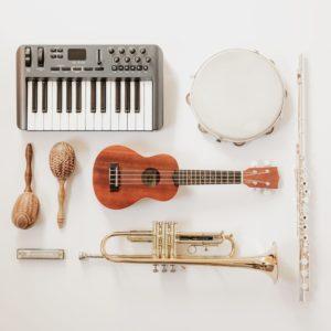 instruments-flatlay